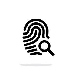 Fingerprint and thumbprint icon on white vector