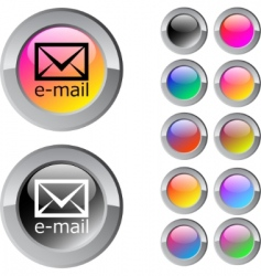 Email multicolor round button vector