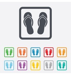 Flip-flops sign icon beach shoes vector