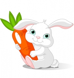 Rabbit holds carrot vector