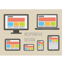 Responsive web design flat style vector