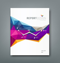 Cover report colorful geometric shapes background vector