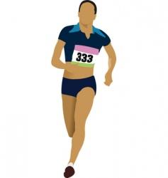 Athlete running vector