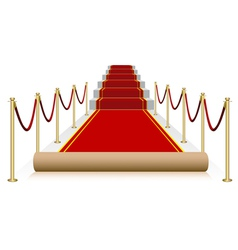 Red carpet isolated on white background vector
