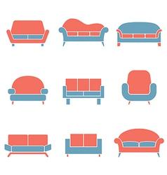 Sofa icons duotone vector
