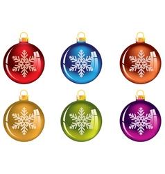 Set of transparent christmas tree decorations vector