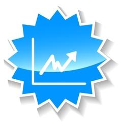 Graph blue icon vector