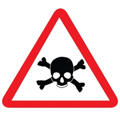 Toxic sign with skull vector