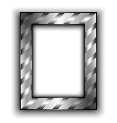 Frame for photo with diagonal lines metal style vector