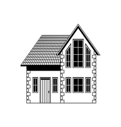 Home freehand drawing icon vector