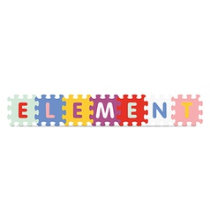 Element written with alphabet puzzle vector