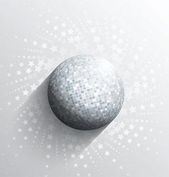 Mirror ball background vector
