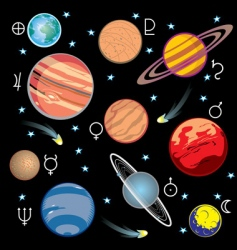 Planet solar system vector