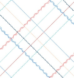 Seamless pattern of sewing stitches vector