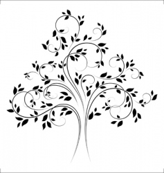 tree 4 black vector
