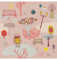 Autumn park background vector