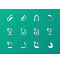 File clip icons on green background vector