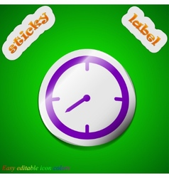 Timer icon sign symbol chic colored sticky label vector