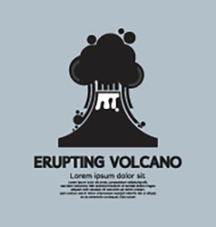 Erupting volcano natural disaster vector