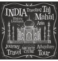 India logo design template taj mahal or vector