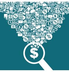 Business a magnifier vector