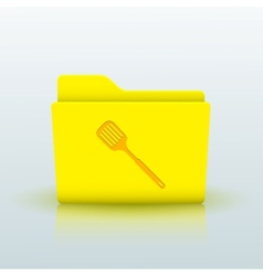 Yellow folder on blue background eps10 vector