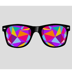 Sunglasses background vector
