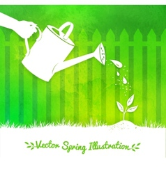 Gardening background vector