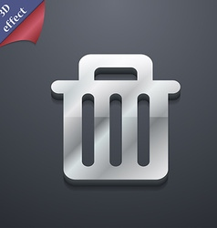 Recycle bin icon symbol 3d style trendy modern vector