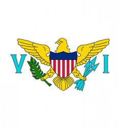 Virgin islands us flag vector