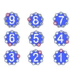 Chart countdown vector