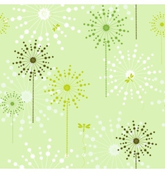 Floral green ecological seamless vector