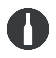 Monochrome round alcohol icon vector
