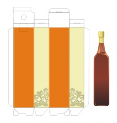 Vinegar template box vector