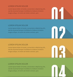 Simple geometric inforgraphic design vector