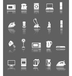 Home appliances and electronics web icons set vector