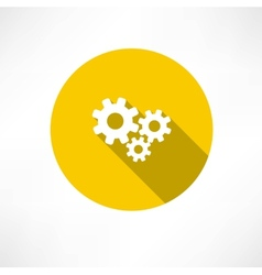 Flat icon of gears vector