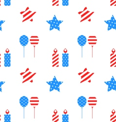 Seamless texture with objects for independence day vector