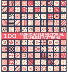 Fashionable vintage seamless patterns vector