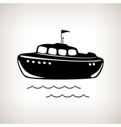 Silhouette boat on a light background vector