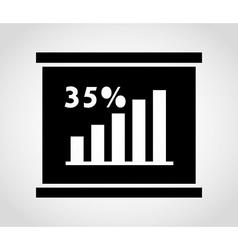 Statistics graph vector