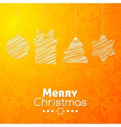 Merry christmas gifts card abstract orange vector
