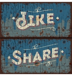 Like share words - social media concept vector