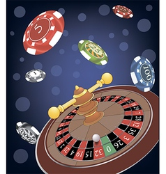 Roulette wheel cartoon vector