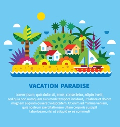 House on island in tropics vector