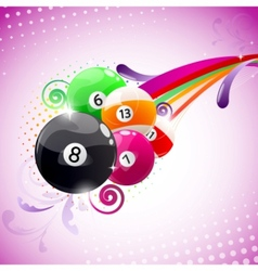 Abstract billiards background vector