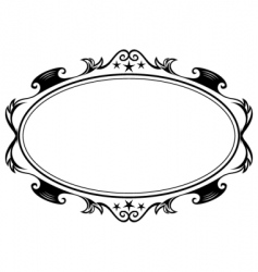 Antique oval frame vector