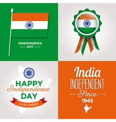 Independence day card india vector