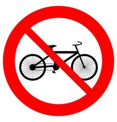 No bike icon vector