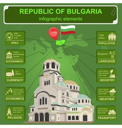 Bulgaria infographics statistical data sights vector